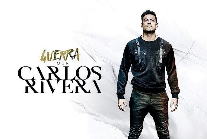 Se ve imagen de Carlos Rivera Guerra Tour concierto Granada