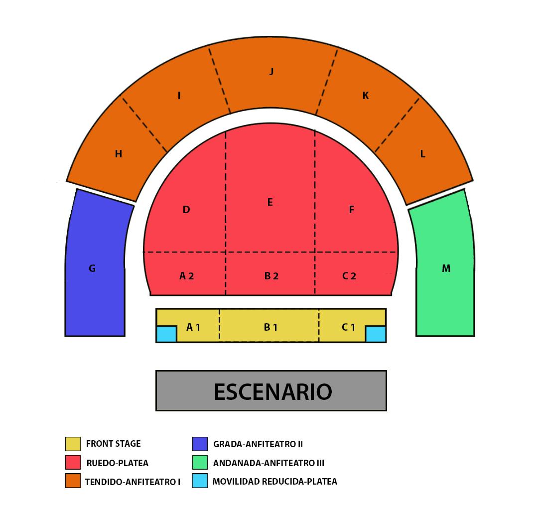 Se ve imagen de Mapa reubicaciones Simple Minds+ Gimnastica concierto Granada