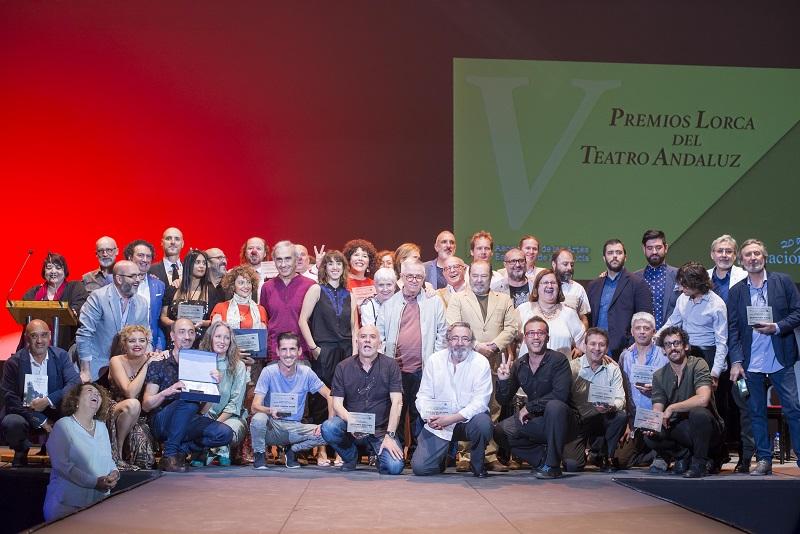 Se ve imagen de la entrega V Premios Lorca en el Teatro Central